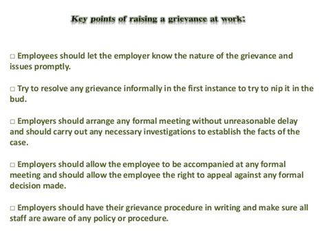 raising a grievance letter template employee grievance