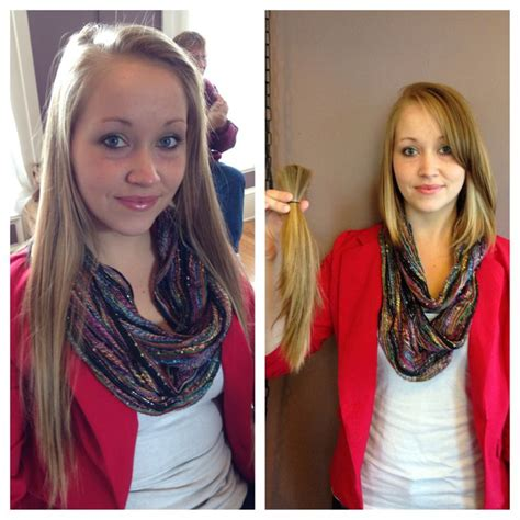 before and after long to short hair before and after hair cut locks of love donations long