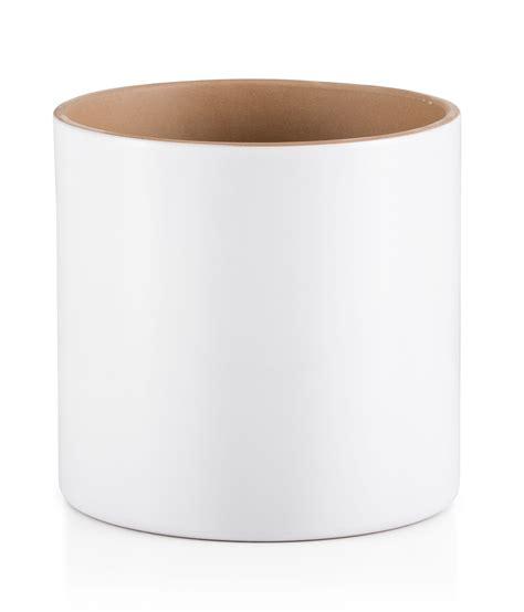 white planter pots round glazed terracotta white painted plant pot h 200mm