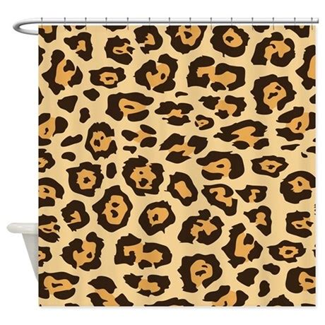 cheetah shower curtain leopard animal print shower curtain by printedlittletreasures