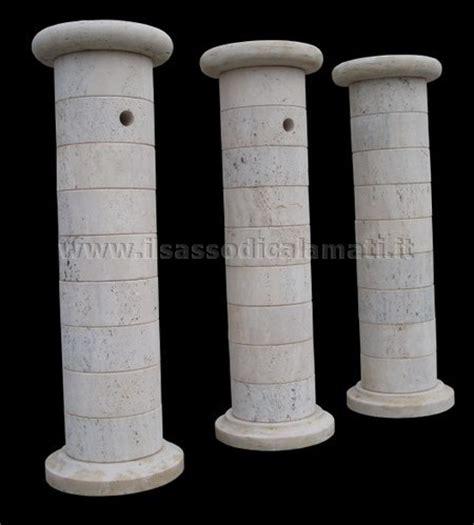 colonne da giardino arredo giardino fontanelle a colonna in pietra il