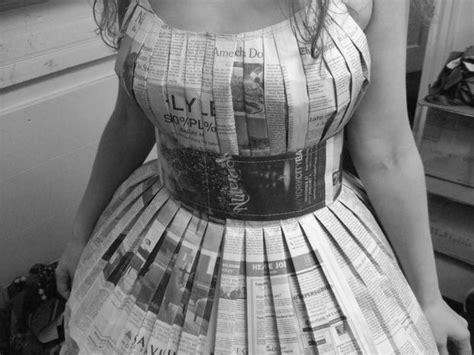 How To Make Paper Costumes - sew a newspaper dress