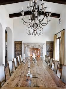 Magnificent fireplace candelabra in dining room mediterranean with