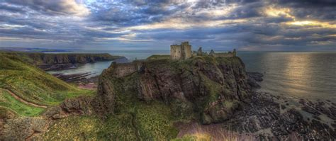 dunnottar castle scotland  ultrahd wallpaper