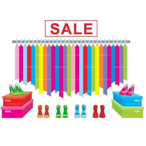 clothing sale clipart