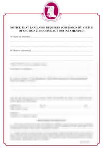 Section 21 Notice Template by Hybrid Section 21 Notice Grl Landlord Association