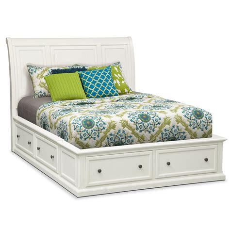 Hanover King Storage Bed White Value City Furniture Value City Furniture Beds
