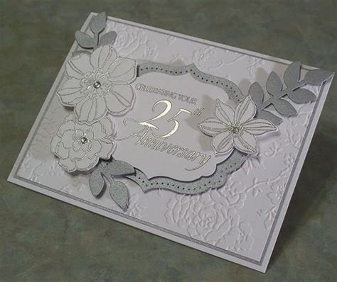 25th Anniversary Handmade Cards - handmade 25th anniversary card stin up secret by