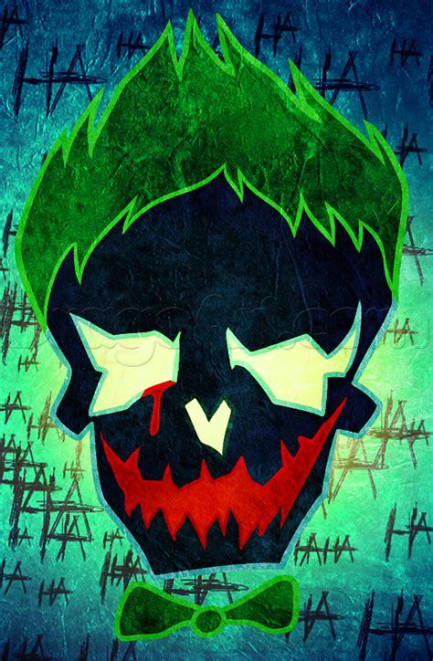imagenes perronas de joker draw suicide squad joker skull step by step dc comics