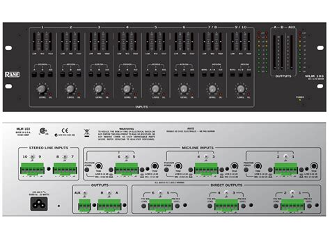 Rane Rack Mixer by Rane Pro Dj Mlm 103 Rack Mount Mic Line Mixer With Microphone Pre 10 Inputs Mlm103