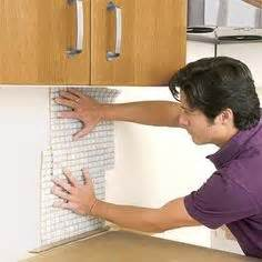How To Apply A Backsplash by Glass Mosaic Tiles On