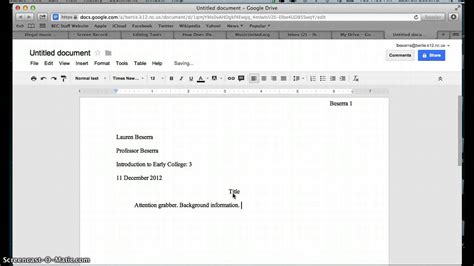 How To Make A Paper Mla Format - mla format template out of darkness