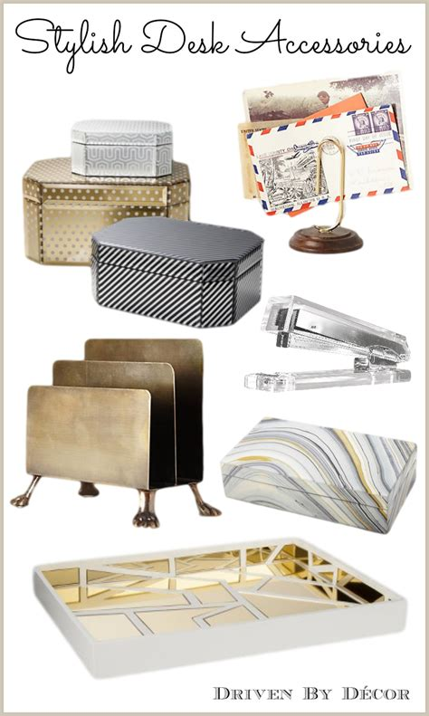 Chic Desk Accessories | a stylish organized desk favorite accessories driven by decor