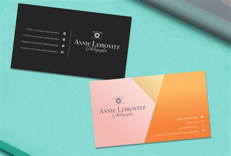 Model Business Card Template