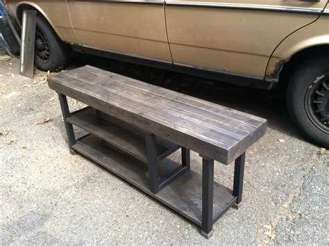 custom storage bench hand crafted reclaimed wood storage bench by steeldesign