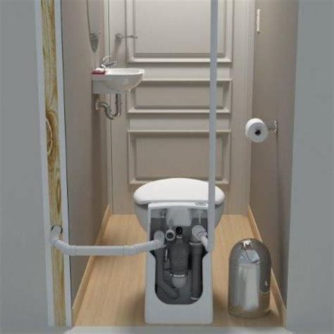 self contained bathroom saniflo sanicompact self contained toilet pump system