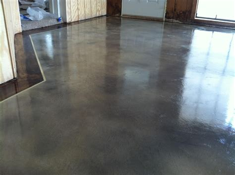 light stained concrete floors interior concrete staining with border by solid