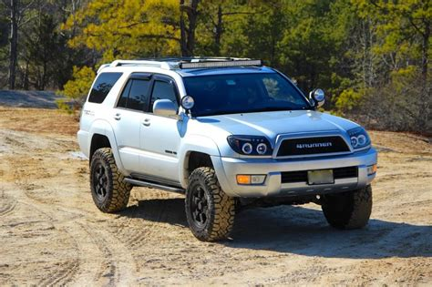 2004 toyota 4runner lights 41 5 quot led light bar mounted on stock roof rack toyota