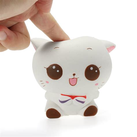 Soft And Slowrise Squishy Bathing Animal By squishy white cat kitten 11cm soft rising animals collection gift deocor