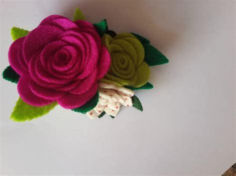 fiori di feltro vendita spilla con fiori di feltro fatta a mano gioielli