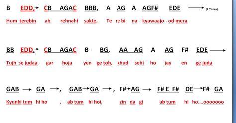 keyboard tutorial of tum hi ho tum hi ho aashiqui 2 full notes for keyboard youtube