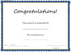 Congratulations Certificate Word Template by Congratulations Certificate Template Sle Templates