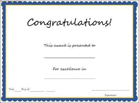 Congratulations Certificate Template