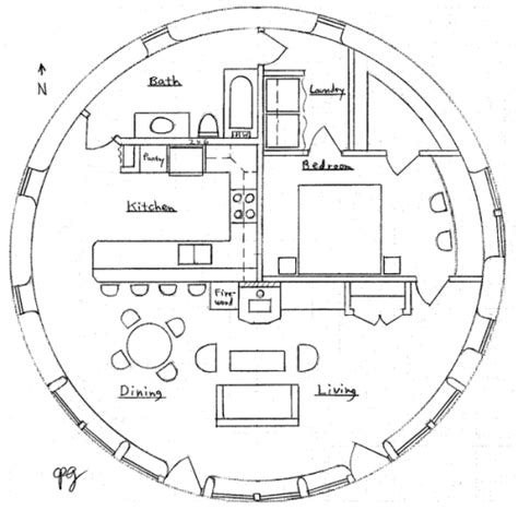 roundhouse floor plan round house earthbag house plans
