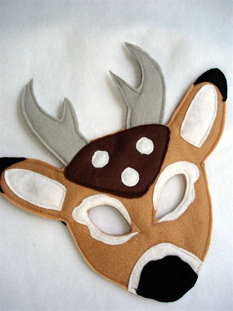 printable mask of deer children s deer felt mask by magicalattic on etsy