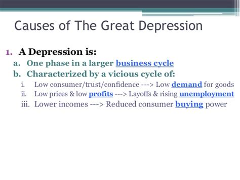 Causes Of The Great Depression Essay by The Great Depression Conclusion The Great Depression Facts Timeline Causes Pictures Stock The