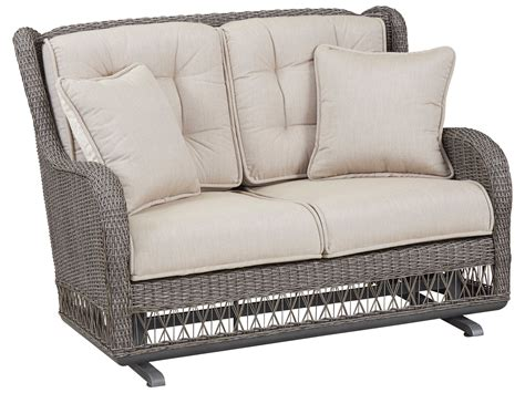 wicker loveseat glider paula deen outdoor dogwood wicker loveseat glider 17003889