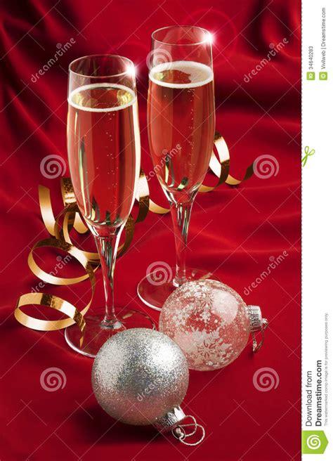 christmas toast stock  image