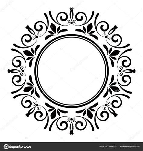 cornice vettoriale decorativa cornice rotonda vettoriali stock