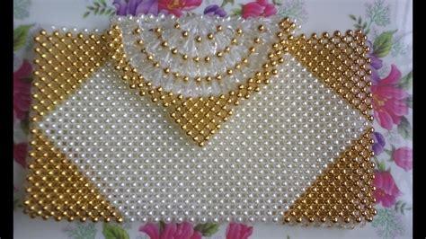 how to make a beaded handbag প ত র ব য গ how to make a beaded purse part 1 beaded bag