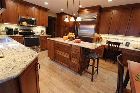 cherry cabinets with quartz countertops cherry cabinets with quartz countertop strongsville oh
