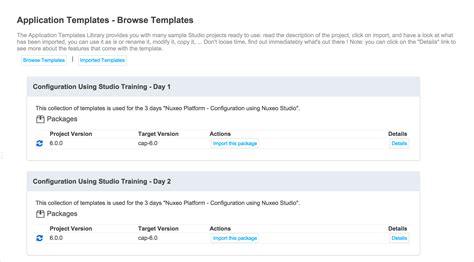 External Templates Nuxeo Documentation Application Documentation Template