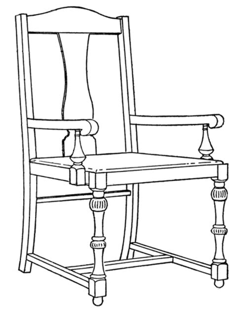 How To Draw A Armchair by Vintage Chair Drawing Free Vintage