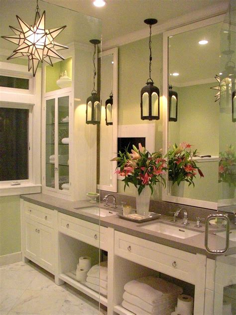 Katiedid Katie Denham Interiors On Bath Crashers Bathroom Vanity Pendant Lighting