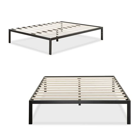 Mattress On Bed Frame Platform 1500 Metal Bed Frame Mattress Foundation Zinus