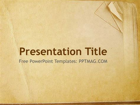 Free Old Book Paper Powerpoint Template Pptmag Powerpoint Template Book Theme