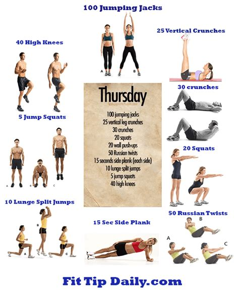 exercises dissected thursday fit tip daily
