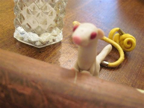 Animals Ferret Miniature Papercraft polymer clay mini ferret 183 a clay animal 183 molding on cut out keep