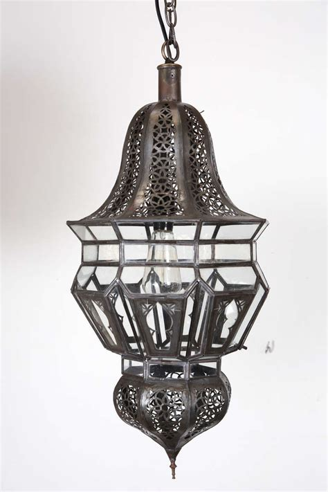 Moroccan Hanging Metal Chandelier At Pair Of Moroccan Moorish Hanging Pendant Lights At 1stdibs