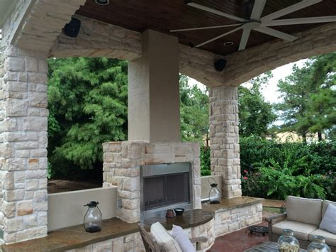 backyard sitting areas fireplace warms up houston outdoor sitting area