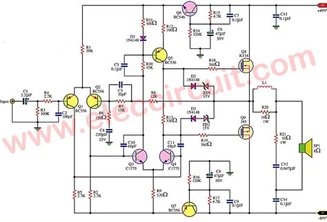 mosfet transistor audio lifier simple mosfet lifier circuit by k134 j49