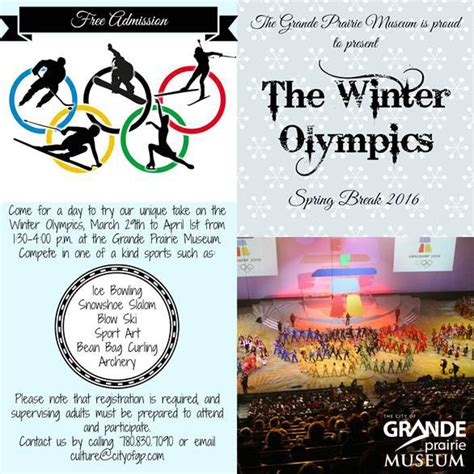 winter olympics schedule 2016 winter olympics fun events 2016 grande prairie
