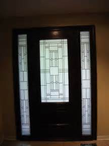 stained glass front entry door with side panels