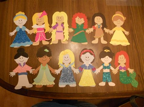 Paper Doll Craft Ideas - disney princess paper doll craft cricut ideas