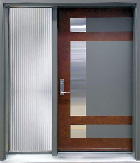 porte contemporaine epsilon 1 avec lat 233 ral vitr 233 portatec fabricant de porte d entr 233 e sur mesure
