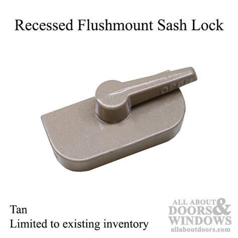 Awning For Back Door Crestline Recessed Flush Mount Style Sash Lock Tan